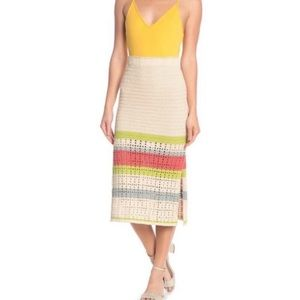 Free People Crochet Bohemian Midi Skirt